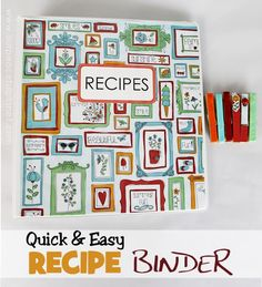 Are your recipes crammed into a drawer or box? Here's a tutorial on how to put them into a binder and organize them up! We've got free downloadable tags and labels plus we show you how to make a recipe holder from a clothespin. You'll be cooking in style in no time!