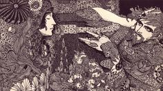 Irish illustrator Harry Clark for Poe's 1919 edition of Poe's, Tales of Mystery and Imagination