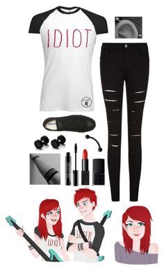 """Female Michael Clifford"" by alex-bows ❤ liked on Polyvore featuring Converse, NARS Cosmetics and Lord & Berry"