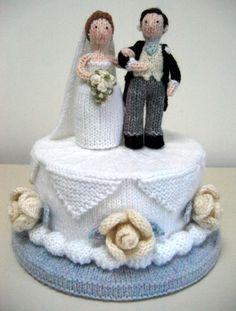 Wedding Cake Alan Dart knit toys