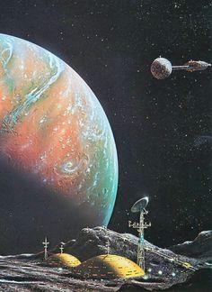 David A. Hardy #art #scifi #spaceexploration