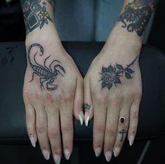 Black Tattoos Designs Natural Elements and Creatures Dope Tattoos, Black Tattoos, Body Art Tattoos, New Tattoos, Hand Tattoos, Small Tattoos, Tatoos, Arrow Tattoos, Escorpion Tattoo