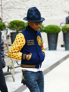 Pharrell Williams Happy With his new hat!