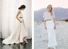 I … – Wedding Suite Champagne Wedding Shoes, Boho Wedding Shoes, Wedding Suits, Bridal Dresses, Two Piece Skirt Set, Modern, Brides, Minimalist, Weddings