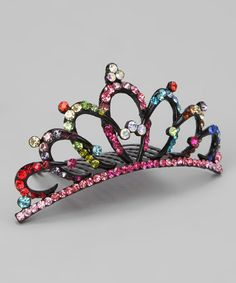 Take a look at this Dark Rainbow Sparkle Tiara by Sparkle Adventure on #zulily today!