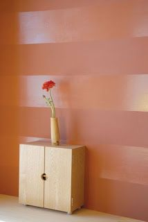 you will need; masking tape, gloss paint and matt paint in the same colour. After masking the floor and ceiling, paint the wall in the matt paint - allow time for the entire wall to dry completely > repeat the process if the wall needs an extra coat (repeat if necessary) > Using a spirit level draw lines on your wall either with chalk or a pencil > place masking tape below or above your line to create the block where the gloss paint must go > apply the gloss paint and allow to completely dry…