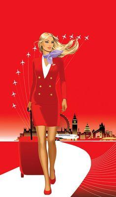 ~Jason Brooks for Virgin Airlines Jason Brooks, Airline Uniforms, Virgin Atlantic, Red Wallpaper, Iphone Wallpaper, Sisterlocks, Cabin Crew, Scene Hair, Flight Attendant