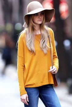 #I have this hat. Love it!  Lace and Jean #2dayslook #fashion #nice #Lace #Jeans  www.2dayslook.com