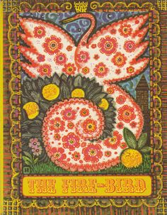 The Fire-Bird: Russian Fairy Tales. A collection of five stories  ('The Fire-Bird', The Frog Tsarevna', 'Chestnut Grey', 'Emelya and the Pike' and 'Vasilisa the Beautiful'). Translated from the Russian by Bernard Isaacs and Irina Zheleznova. Illustrations by Igor Yershov and Ksenia Yershova. Click through on book for full details.