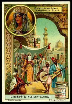 Liebig Tradecard - Kabyl Bridal Costume in Algeria by cigcardpix, via Flickr