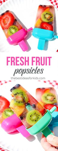This homemade fresh fruit popsicle recipe is so easy to make a perfect summer treat!