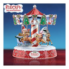 The Bradford Exchange Rudolph's Magical Christmas Illuminated Musical Carousel