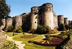 Chateau d'Angers, France. 17 tower fortress. Part of the visit during the France Yoga Retreat Sept 2015 - Join us for this memorable experience with Higher Altitude Yoga
