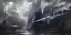 Hykondi Pass, Izaak Moody on ArtStation at https://www.artstation.com/artwork/0aeG