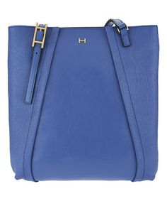#zulily! Periwinkle Panel Leather Handbag by H by Halston, $150 #zulilyfinds