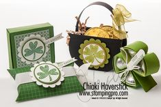 Stampin' Up! Treat Holders  by Chiaki H at Stamps, Ink, Paper: St. Patrick's Day