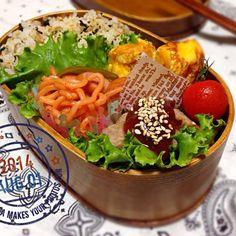 今日も暑そぉ…( ˃ ⌑ ˂ഃ ) だけど、ふぁいと-‼︎(ㅅ´ ˘ `)♡ - 36件のもぐもぐ - 8/1* 混ぜご飯 お弁当 ◡̈❥ by ChaaO