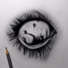 draw, eye, hands, scary - image #2411205 by miss_dior on Favim.com