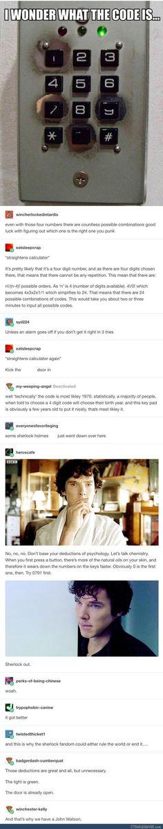 Lol, I& the Sherlock trying to unlock an open door, . - Lol, I& Sherlock trying to unlock an open door - Lol So True, Stupid Funny, Funny Cute, Hilarious, Johnlock, Drôle Sherlock Holmes, Sherlock Fandom, Funny Sherlock, Watson Sherlock