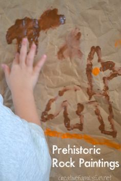 Create simple versions prehistoric rock paintings while exploring the country of Algeria through art