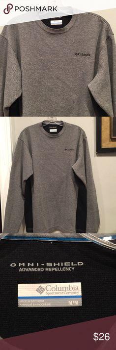 "MENS ""Omni-shield"" Columbia Sweatshirt Sz M Perfect condition, never worn, med grey, black on sides Columbia Shirts Sweatshirts & Hoodies"