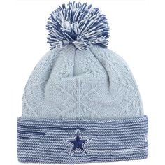 New Era Women s Dallas Cowboys Snow Crown Redux Knit Hat ( 28) ❤ liked on Polyvore  featuring accessories 64985841164d
