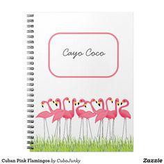 Cuban Pink Flamingos Notebook June 6 2017 #zazzle #junkydotcom