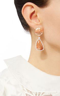 Fern Fossil Earrings by LAURA PIERSON for Preorder on Moda Operandi