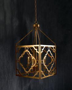 """""""Soleil"""" Golden Pendant by Regina-Andrew Design #Horchow Need this for my foyer!"""