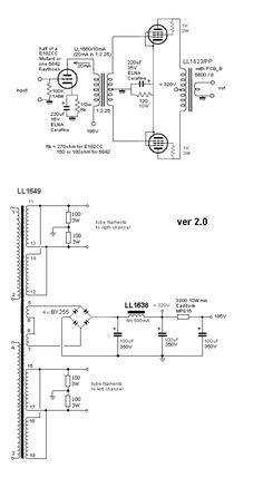 Push-Pull Amplifier Valve Amplifier, Audio Amplifier, Diy Electronics, Electronics Projects, Power Supply Circuit, Electronic Circuit Projects, Electronic Schematics, Speaker System, Vacuum Tube
