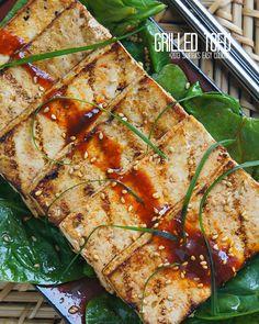 Grilled Marinated Tofu @SECooking | Sandra