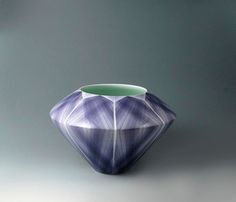 Japanese Porcelain Vase by Uwataki Koichi | From a unique collection of sculptures at https://www.1stdibs.com/art/sculptures/