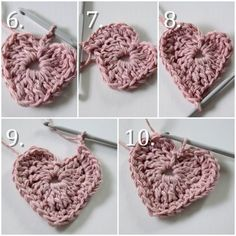 Opskrift: Hæklet hjerte Christmas Crafts, Christmas Decorations, Knitted Heart, Crochet Ornaments, Christmas Knitting, Knit Crochet, Diy And Crafts, Crochet Earrings, Valentines