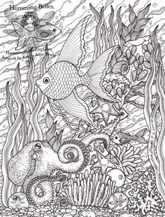 Free Challenging Under the Sea Coloring Pages for Adults - Enjoy Coloring