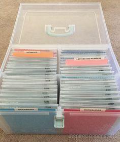 Craft Room Organization - Stamp Storage www.inspiredpapercrafts.com