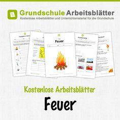 Kostenlose Arbeitsblätter und Unterrichtsmaterial für den Sachunterricht zum Thema Feuer in der Grundschule.