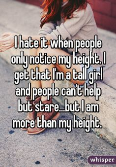 Whisper App. Confessions from tall girls.