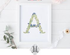 This is an INSTANT DOWNLOAD printable watercolor floral wreath with monogram design perfect for birthday, wall art decor, nursery decor or baby shower gifts. Please review the following before placing your order.  Letter P Size: 8x 10 Format: JPG  You will download this design instantly from Etsy after your payment is processed successfully. Please note there is no customization service included with this purchase. This is a digital art download, no physical item to be shipped…