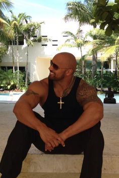 "Dwayne ""Dayum"" Johnson... I want him to wrap those big arms around me! *sigh*"