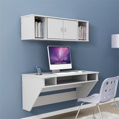 Floating Desk & Hutch (perfect for guestroom/office)