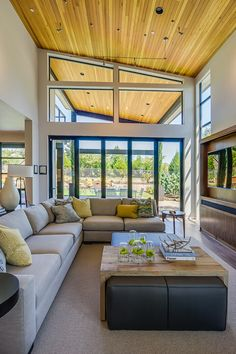 Living Room | 2015 Street of Dreams | 'Sandhill Crane' Built by Westlake Development - Luxury Custom Home Builders Portland, OR