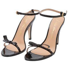 Sandália verniz laço - preta