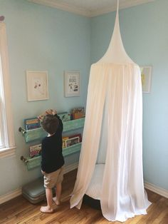 Play Tent Canopy Solid White  1 Hanging Tent by bluehousejoys