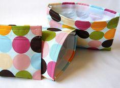 Reusable Snack Bags and Reusable Sandwich Bag - Set of 3 Reusable Lunch Bags - Neopolitan Polk A Dot - Eco Freindly Bag Set. $15.50, via Etsy.