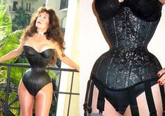 Cathie Jung - World's Smallest Waist inches-- Extreme body parts photos) Tiny Waist, Small Waist, Strapless Dress, Bodycon Dress, White Corset, Lace Tights, Long Beards, No Photoshop, Waist Training