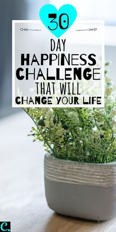Want To Know How To Be Happy? Take This 30 Day Happiness Challenge! 30 Day Happiness Challenge That Will Change Your Life! Complete the tasks set for each day & find our how to become happier within 30 days! Detox Challenge, 30 Day Challenge, How To Become Happy, Are You Happy, Compliment Someone, 30 Tag, Happiness Challenge, Ways To Be Happier, Self Care Activities