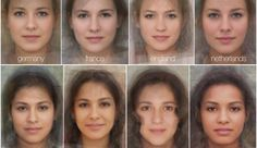 "Average Female Faces in the World: ""experimental psychologists at the University of Glasgow in Scotland have combined the faces of women around to world to approximate the ""average face"" of each country. Using a modern version of the technique that Sir Francis Galton pioneered in the 1800′s, multiple images of faces are aligned and composited together to form the final result."""