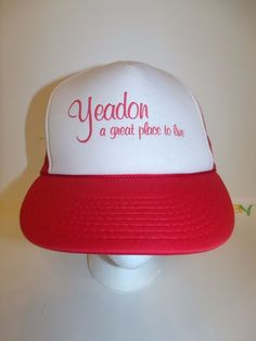 YEADON PA Pennsylvania A Great Place to Live Hat Cap Trucker Snapback  #Unbranded #TruckerHat
