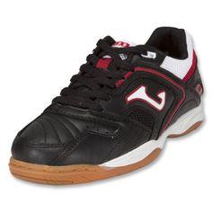 Joma Lozano KIDS Indoor Soccer Shoes (Black/White/Red) Joma. $24.00