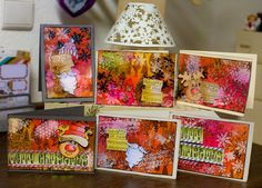 Dylusions Christmas Cards by www.andrea-gomoll.de; aren't these cool, next year...